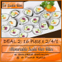 Dine In ADVOCATE DEAL 2 / 32 pieces @ R224 for this 16 Piece x 2/4/1 Salad Roll Special
