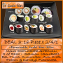 Dine In ADVOCATE DEAL 3 / 32 Pieces @ R 84,33 for this 16 piece x 2/4/1 Maki Explorer Special