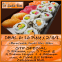Dine In ADVOCATE DEAL 6 / 32 pieces @ R152,50 for this 16 Piece x 2/4/1 STP Special