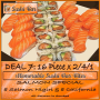 Dine In ADVOCATE DEAL 7 / 32 pieces @R168,00 for this 16 Piece x 2/4/1 Salmon Special